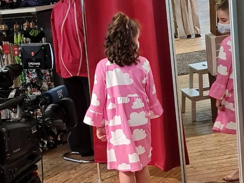 Fernsehdreh BR Modelabel für kräftige Mädchen Modenschau
